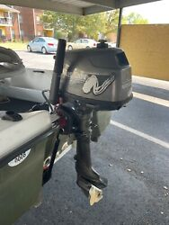 2001 Nissan 4 Hp Outboard Upgraded To 6hp Short Shaft 15 Inch