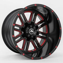 22x12 American Off-road A106 8x170 Et-44 Black Red Tint Wheels Set Of 4