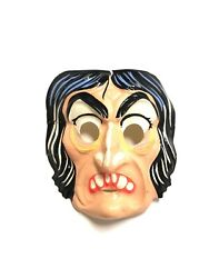Vtg Ben Cooper Rare Halloween Plastic Mask 60s Classic Witch Hag Old Face Horr