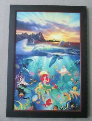 Signed And Framed Christian Riese Lassen / Disney Giclee Artwork Under The Sea