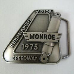 1975 Indianapolis 500 Belt Buckle Limited Edition 163 Of 500 Pewter Bobby Unser