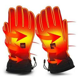 Electric Battery Heated Gloves For Women Men,touchscreen Texting Water