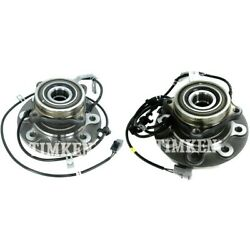 Set-tmsp580100 Timken Wheel Hubs Set Of 2 Front Driver And Passenger Side New Pair