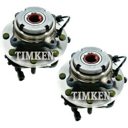 Set-tmsp580204 Timken Wheel Hubs Set Of 2 Front Driver And Passenger Side New Pair