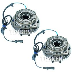 Set-tmsp940202 Timken Wheel Hubs Set Of 2 Front Driver And Passenger Side New Pair