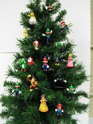 Super Mario Brothers Christmas Ornament Set Featuring 18andnbsp Mario Characters