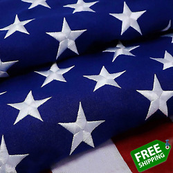 G128 Andndash American Flag | 2x3 Feet | Heavy Duty Spun Polyester 220gsm Andndash Embroidered