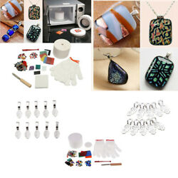 12pcs Pro Stained Glass Fusing Supplies Microwave Kiln Kit Diy Jewelry Tools