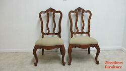 Pair Chairs Ethan Allen Tuscany Pretzel Back Dining Room Side Newport French W