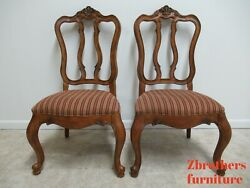 Pair Ethan Allen Tuscany Pretzel Back Dining Room Side Chairs French Carved B