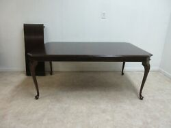 Stanley Cherry Queen Ann Dining Room Banquet Dining Room Table W/ Drawers