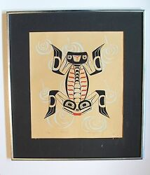 King And I Frog Painting Picture Copyright 1972 Friday Harbor Wash Stamp 25/50
