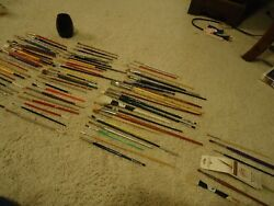 Lot 81 Vintage Pre Owned Artist Paint Brushes Loew Grumbacher And Lots More