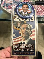Obama Jan 21 2013 Presidential Inauguration Ceremony Official Red Gate Ticket