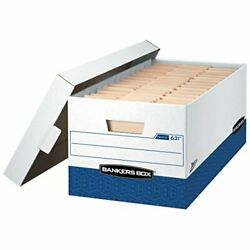 Bankers Box Presto Heavy-duty Storage Boxes Instant Assembly Lift-off Lid Let...
