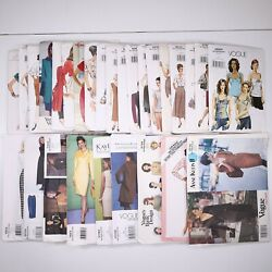 Lot Of 28 Vogue Patterns Womens 1990s And 2000s Some Are Uncut Some Cut