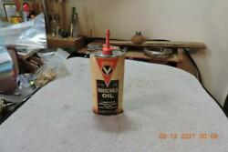 Antique Rare Veeco Household Oil Oval Oiler Tin Can Lead Top Unopened