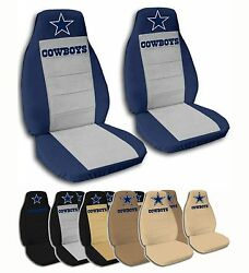 Fits Ford-chevy-nissan-dodge Dallas Cowboys Velvet Seat Covers 10 Color Options