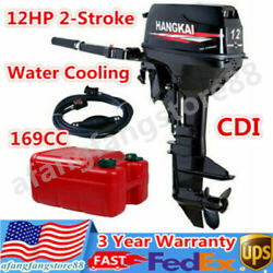 2-stroke 12hp 169cc Outboard Motor Dinghy Fishing Boat Engine Water Cooled Cdi