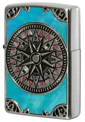 Zippo Lighter Shell Antique Compass Special Processing New Imported From Japan
