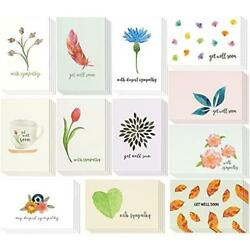 48 Pack Get Well And Sympathy Greeting Card Assortment - Condolence Note Cards