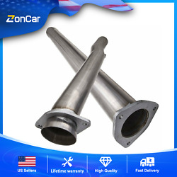 2pcs 4 Dpf Exhaut Test Tube Pipe For 2011-2017 Ford 6.7l Diesel 409 Stainless