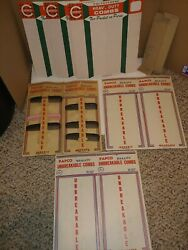 6 Vintage 60and039s/70and039s Hair Combs Retail Store Counter Display Signspapcocameron