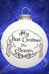 Memorial My First Christmas In Heaven Girl Ornament Female