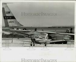 1963 Press Photo Air Force Jet And Private Plane At St. Petersburg-clearwater