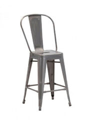 Offex Home Kitchen Elio Counter Chair Gunmetal - 2 Pack