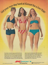 Get Your Sun Day Best At Kmart - Bikini Swimsuits Ad 1977