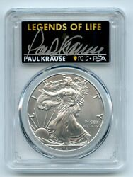 2021 1 Silver Eagle T1 Last Day Production Pcgs Ms70 Legends Of Life Paul Kraus
