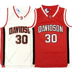 Stephen Curry #30 Davidson Wildcats College Basketball Jersey Stitched Red White $23.99