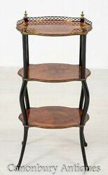 French Etagere Antique Side Table Circa 1900 Amboyna