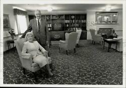 1989 Press Photo Governor George M. Leader And Wife Mary Jane At Country Meadows