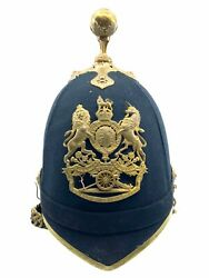 British Artillery Officers Home Service Helmet And Tin Named