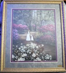 1997 Glynda Turley Hand In Hand 20 X 24 Sign And Numbered Framed Print