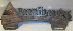 Fort Hood United States Army Base Killeen Texas Aluminum License Plate Topper