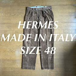 Hermes Corduroy Straight Pants 48 Made In Italy
