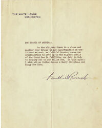 Franklin D. Roosevelt Typed Document Signed As President - Boy Scouts Of America