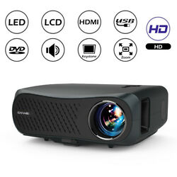Caiwei 8500lumens Led Video Projector Full Hd Native 1080p Movie Backyard Party