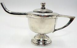 Incredible Sanborns Sterling Silver Mexico Heavy Incense Burner / Pot With Lid