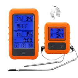 Wireless Digital Meat Thermometer For Grilling Smoker Bbq Grill Oven Thermometer