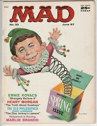 Mad Magazine 33 Vg/f 5.0 Nice Copy Classic Cover June 1957 Key Alfred E. Neuman