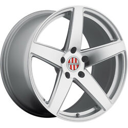 Staggered 20x8.5 / 20x10 Victor Equipment Baden Silver 5x130 +45/+50 Wheels Rims