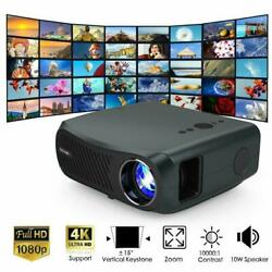 Led 100001 Projector Native 1080p Home Theater Movie Video 8500lumen Multimedia