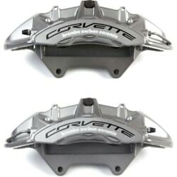 Set-ac1722652-f Ac Delco 2-wheel Set Brake Calipers Front Driver And Passenger New