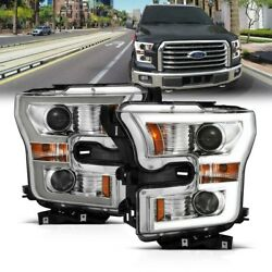 111358 Anzo Headlight Lamp Driver And Passenger Side New For F150 Truck Lh Rh Ford