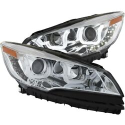 111325 Anzo Headlight Lamp Driver And Passenger Side New Lh Rh For Ford Escape