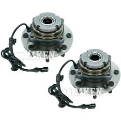 Set-tmha590425 Timken Set Of 2 Wheel Hubs Front Driver And Passenger Side New Pair